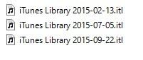 ファイル[iTunes Library.itl)はあたらしいバージョンで作られているため読み込む事ができません。の対処法